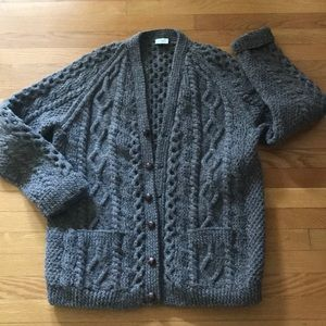 Aran handknit sweater NEW